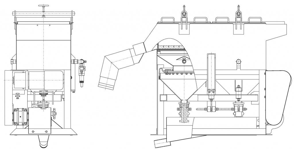 Машина отсадочная МОД-0,5СК чертеж